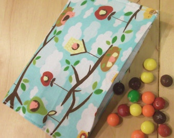 Reusable Snack bag - Birdhouses in the Trees