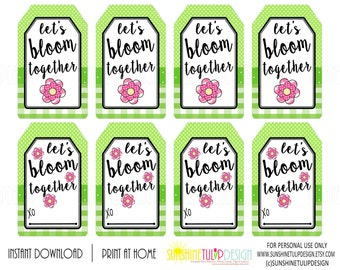 Printable teacher appreciation tags i love that youre my teacher lets bloom together gift tags printable welcome back to school tags printable teacher appreciation gift tags by sunshinetulipdesign negle Gallery