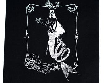 Mermaid Back Patch - Print on Canvas