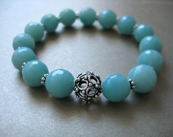 amazonite bali silver bracelet