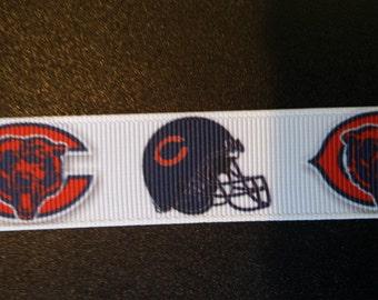 """Chicago Bears 7/8"""" Inspired Grosgrain Ribbon"""