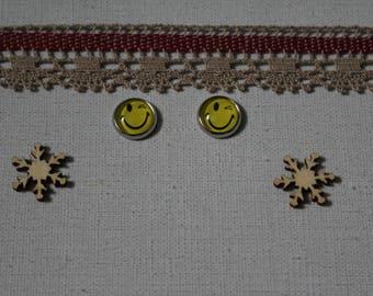 Studs emoticon Smiley, smile, glass