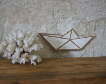 Decorative Origami wooden - boat