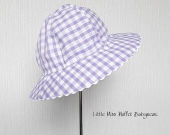 Girls School Hat, Girls Sun Hat, School Hat, Gingham Hat, Summer Hat, Girls Bonnet, Sun Hat, Floppy Sun Hat, Childrens Sun Hat, Girls Hat
