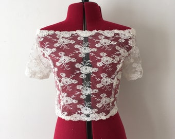 Ivory lace wedding bolero