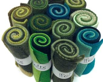 Green Multi Roll 12 Pack Assortment  - ADORNMENT FLAT GOODS