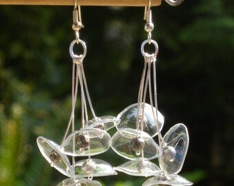 Clear Mycena Earrings Made From Recycled Plastic
