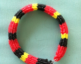 "The CORAL SNAKE is Back!  Make a Statement With This Snake On Your Arm.  Made In 6 Pt. Hexafish Design.  Size 7"" For Adult.  Striking!"