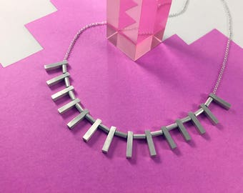 Tiny Monoliths Necklace // Sterling Silver