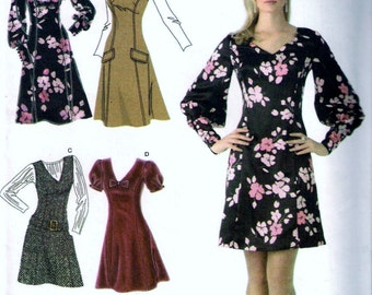 Simplicity 3620 Misses Fitted Dress Or Jumper In Two Lengths Sewing Pattern Size 6, 8, 10, 12 and 14 UNCUT