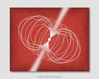 Science as Art - Pulsar Print - Available as 8x10, 11x14 or 16x20
