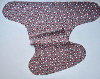 Made to Order - Tiny Foxes OBF Hybrid Fitted Diaper - OS Hybrid Fitted Cloth Diaper - OS Fitted Diaper with Fold Down Rise