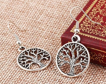 A pretty pair of earring tree of life