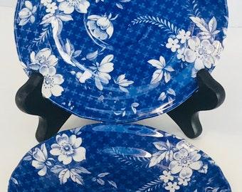 Vintage Spode Flow Blue Plates