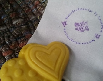 Vanilla Hearts Lotion Bar, Organic Ingredients, Honey Bee Blessings