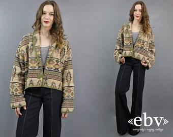 Southwestern Blazer Cropped Blazer Cropped Jacket 90s Blazer 90s Jacket Plus Size Blazer Indian Jacket Indian Blazer Woven Jacket XL 1X