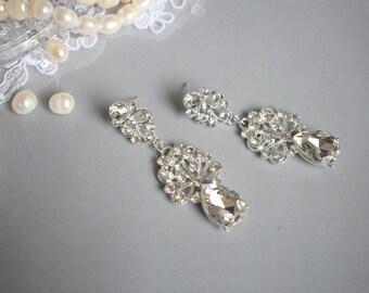 Drop Dangle Earring, Chandelier Earring, Wedding Earring, Wedding Earring, Vintage Long Earring, Bridal Earring