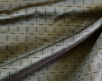 Brown and gold silk fabric from Birka, handwoven natural silk, Viking clothing, historical fabric, Viking fabric, fabric for reenactors