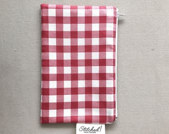 Red Gingham Zipper Pouch