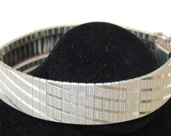 Sterling Silver Flexible Cuff Bracelet made in Italy