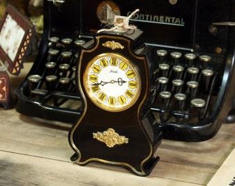 Vintage Russian mechanical clock Agat from Soviet Union era table clock