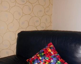 Geometric Print 100% Cotton Throw Cushion