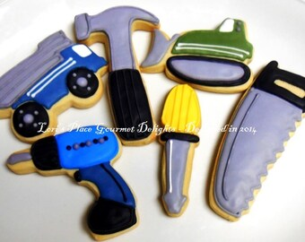 Construction Cookies - 12 Cookies