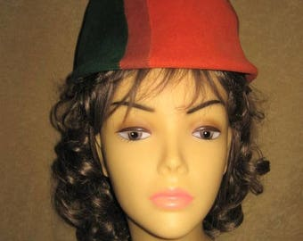 60s Hat Cloche Sears Mod Wool Small Vintage
