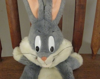 Bugs Bunny Cartoon Character plush puppet from 1991 stuffed toy animal add to an Easter Basket