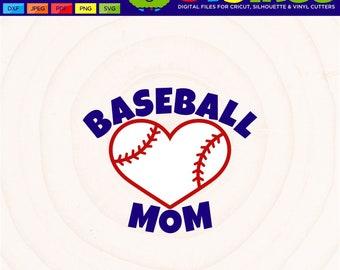 Baseball Mom SVG Baseball Heart SVG Baseball Mom Shirt Baseball Mom Heart SVG baseball svg