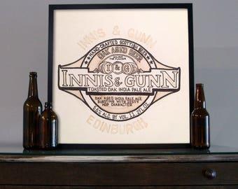 Beer Art - Craft Beer Art - Beer Painting - Innis & Gunn  Beer Art