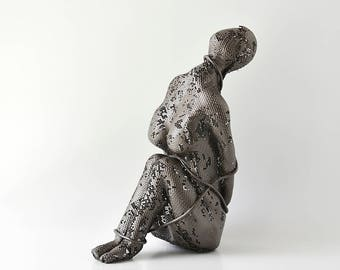 Contemporary metal art, Female sculpture, Unique home decor,  Abstract sculpture, Metal sculpture
