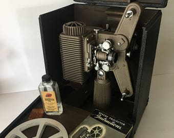 Revere 80 Home Movie Projector 8mm 1941 Storage Case with Accessories for Upcycle Parts or Repair