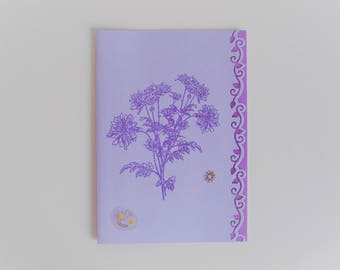 Card bouquet of flowers purple  all occasions