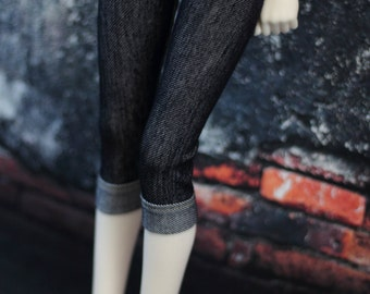 Cuffed Jeans leggings for Dollfie Dream BJD, 1/3 Clothes, Pants Jeggings DDIII