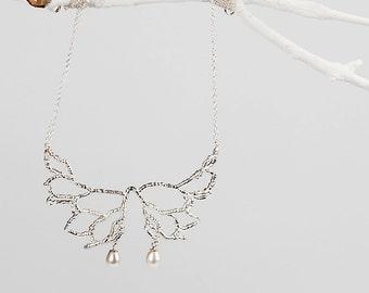 Wedding Necklace Bridal Jewelry, Wedding Jewelry Pearl, Statement Necklace Silver, Statement Necklace Wedding, Boho Jewelry Pendant