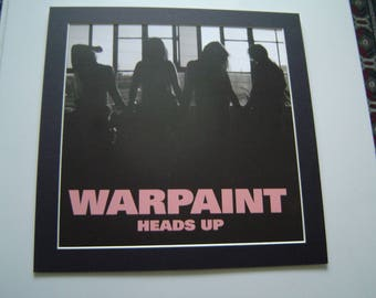 Warpaint Heads Up  Poster in A Custom Made Mount Ready To Frame