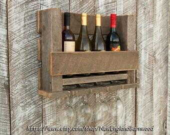 Wine Glass Rack, Wooden Wine Rack, Rustic Wine Rack, Wine Rack, Wine