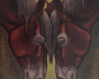 Fine Art Etching, animal fine art, horse prints