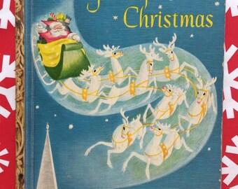 Vintage Night Before Christmas Children's Golden Book