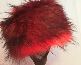 Copper Red Luxe Shag Faux Fur Hat