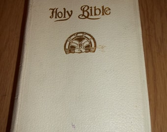 HOLMAN Holy Bible 0rder Of RAINBOW For Girls BIBLE Eastern Star Masons