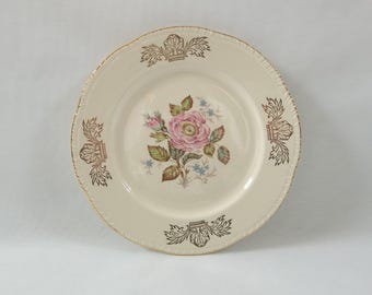 Antique HOMER LAUGHLIN Liberty Pattern China Dinner Plate, Queen Esther Pattern Warranted 22 Karat Gold Design Fine China, Replacement Dish