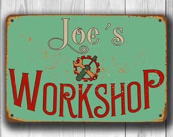 CUSTOM WORKSHOP SIGN, Custom Workship Signs, Personalized Workshop Sign, Customizable Sign, Vintage style Workshop Sign, Gift for Father