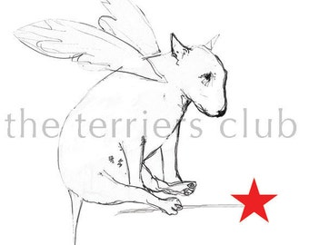 English Bull Terrier Christmas Card Set  Reluctant Fairy