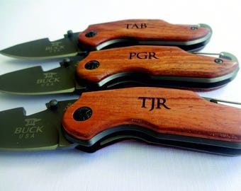 3 SET Personalized Easy Open Survival Pocket Knives. Gift for Him. Gift for Dad, Husband, Brother, Boyfriend, Groom, Groomsmen.