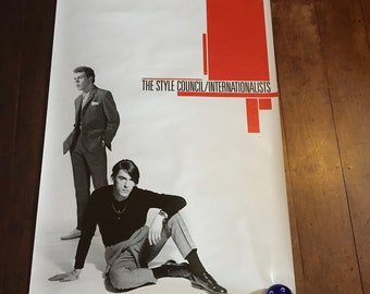 The Style Council/Internationalists 1985 Geffen & Polydor Records Original Rare Vintage Music Poster