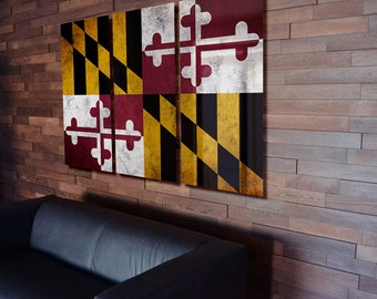 Maryland State Flag Triptych