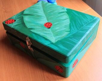 Ladybug wooden box