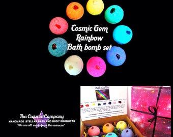 Cosmic Gem Rainbow Healing Bath Bomb Set